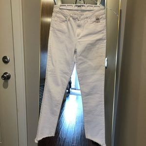 White Paige High Waisted Jeans with Detail